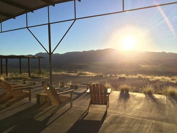 The view from atop the canyon, where I watched the sunrise and sunset. (Source: Jonathan M. Seidl)