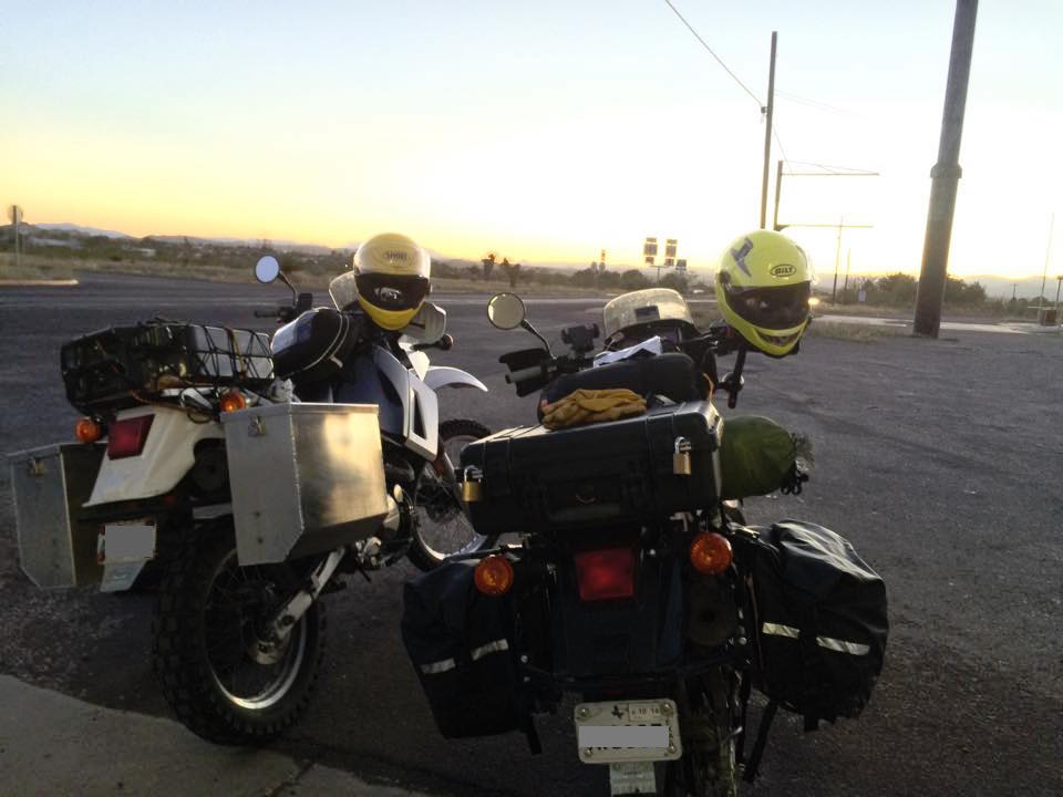 Our bikes right before we entered Big Bend. (Photo: Jonathon M. Seidl)