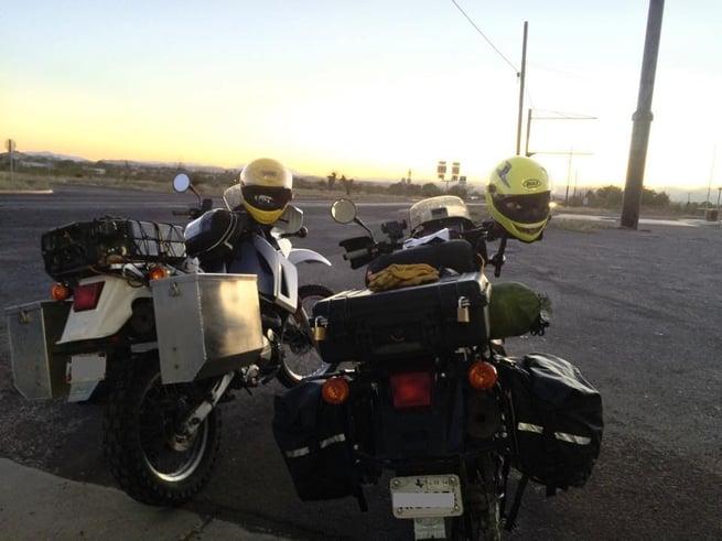 Our bikes right before we entered Big Bend. (Photo: Jonathon M. Seidl)
