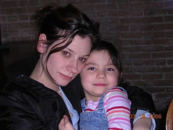 Jenny and her daughter, Emily. This photo was taken at the restaurant the day I saw her strung out. A day she doesn't even remember. (Source: Jonathon M. Seidl)