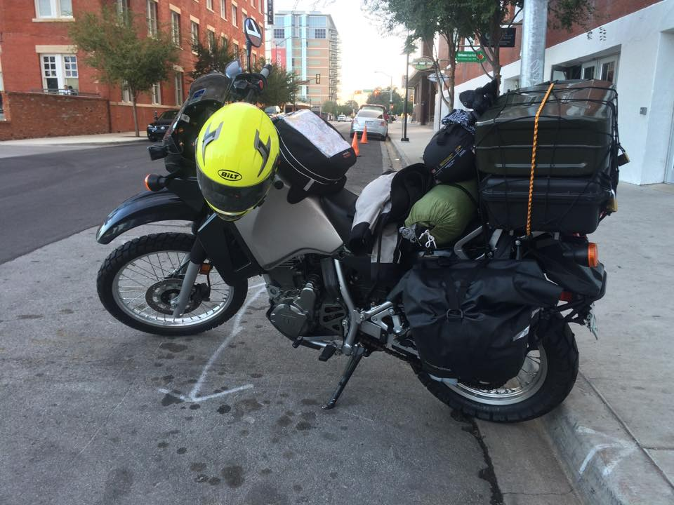 My bike loaded down the morning I left for the trip. (Photo: Jonathon M. Seidl)