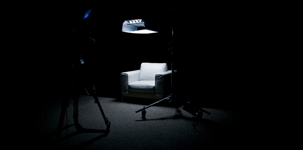The signature I Am Second white chair. (Source: I Am Second)