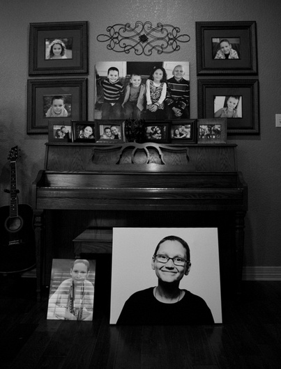 Pictures of Ethan line the home of the Hallmarks in Midlothian, Texas. (Source: I Am Second)