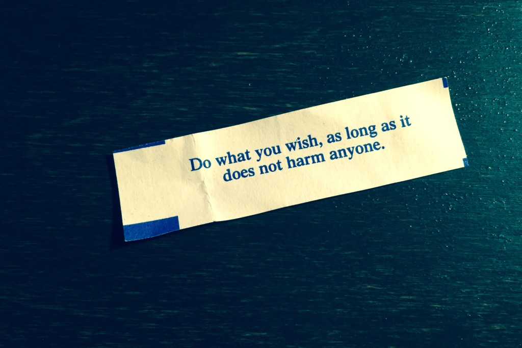 The advice in my fortune cookie. (Source: Jonathon M. Seidl)