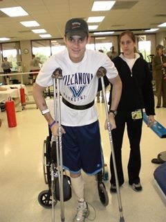Botts recovering after living through an IED attack in Iraq. (Photo Source: John Botts)