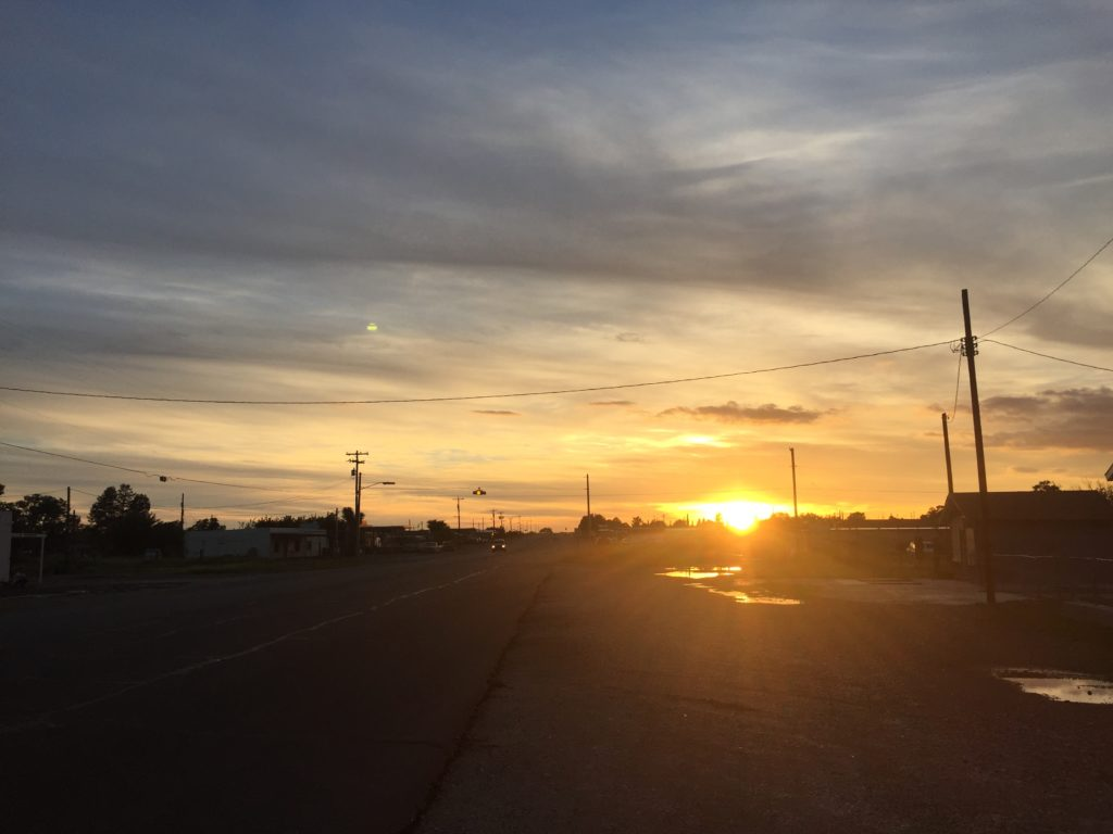 While the trip in general wasn't what we expected, there were some awesome moments, like this West Texas sunset. (Photo source: Jonathon M. Seidl)