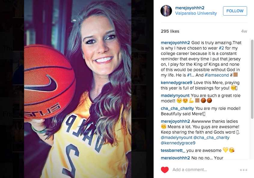 (The post Hamlet put on Instagram explaining her jersey decision. Source: Instagram)