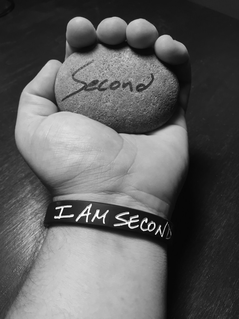 The author with his #secondstone. (Source: I Am Second)